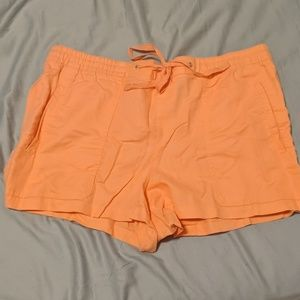 Gap Shorts size XL Stretch waist ribbon tie Pink